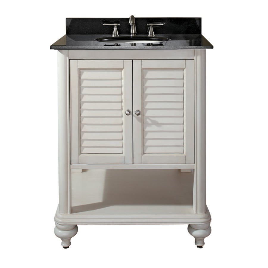 shop avanity tropica antique white bathroom vanity (common: 24-in
