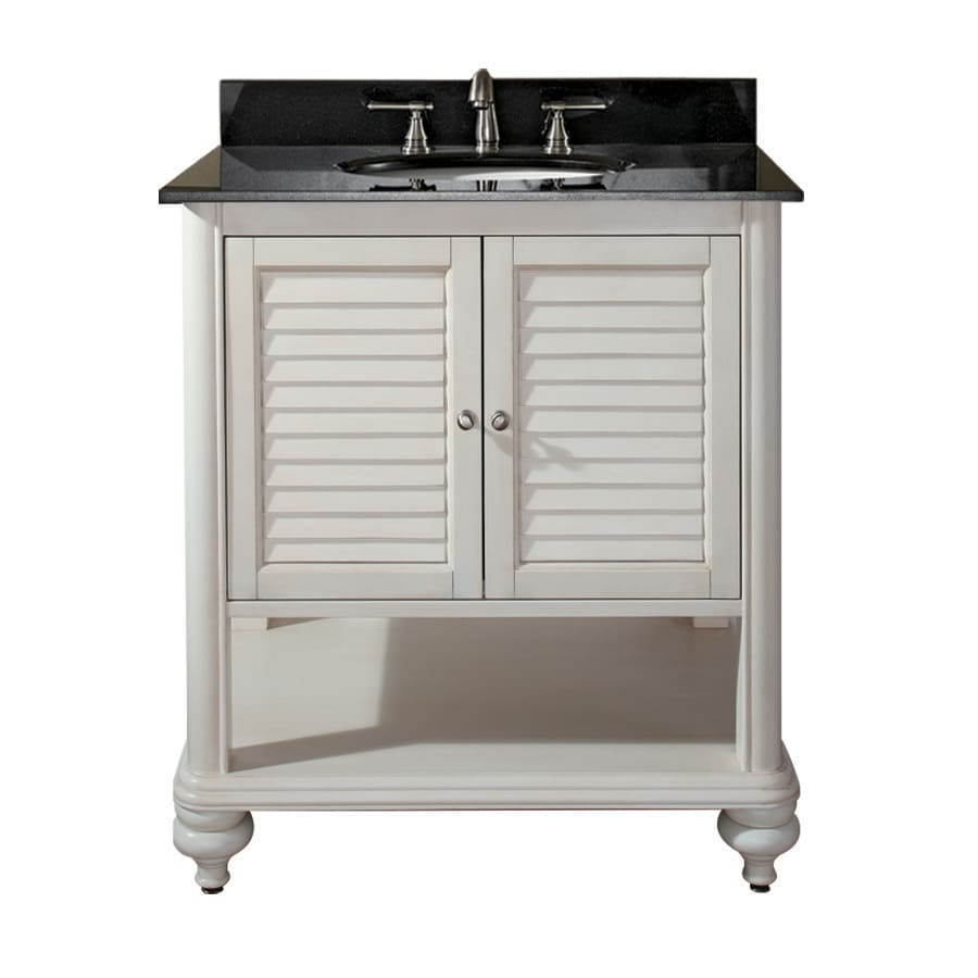 Avanity Tropica Antique white Bathroom Vanity (Common: 30-in x 21-in; Actual: 30-in x 21-in)