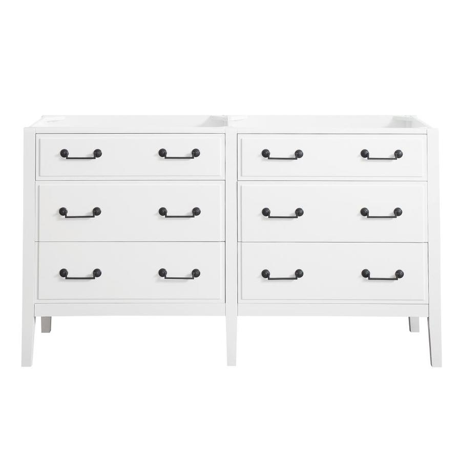 Avanity Delano White (Common: 60-in x 22-in) Traditional Bathroom Vanity (Actual: 60-in x 21.5-in)