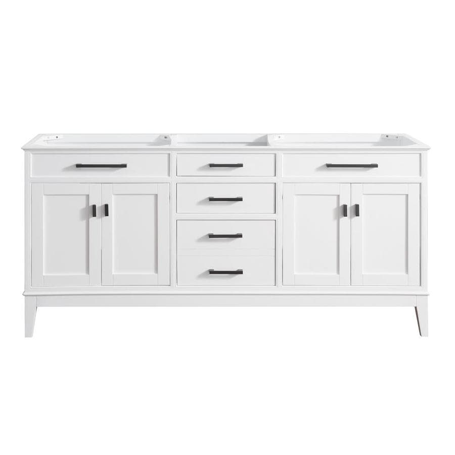 Avanity Madison White 72-in Transitional Bathroom Vanity