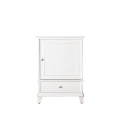 Runfine 24 In W X 19 D 34 H Vanity White With Vitreous China Top And Basin