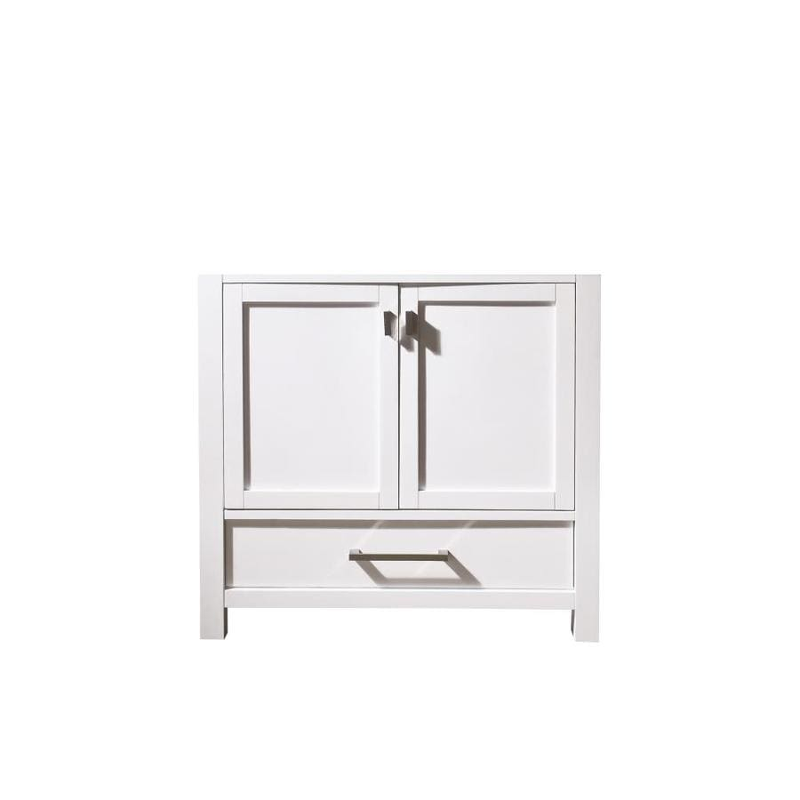 Avanity Modero White Transitional Bathroom Vanity (Common: 36-in x 21-in; Actual: 36-in x 21-in)