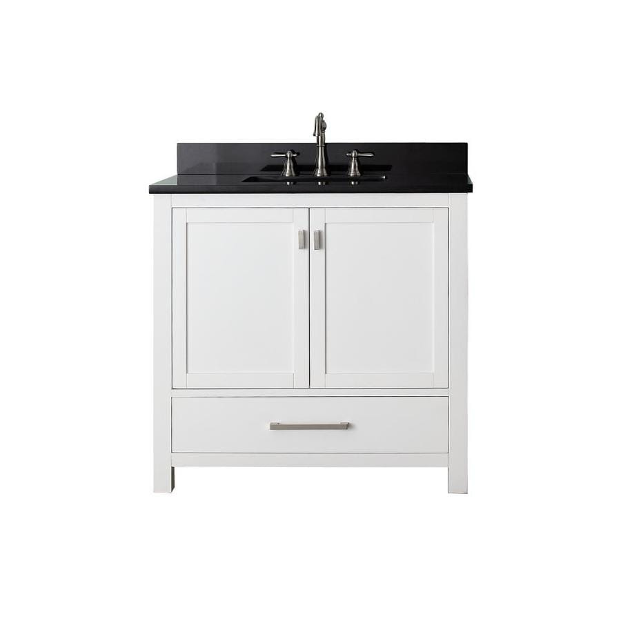 Shop avanity modero white undermount single sink bathroom for Granite bathroom vanity