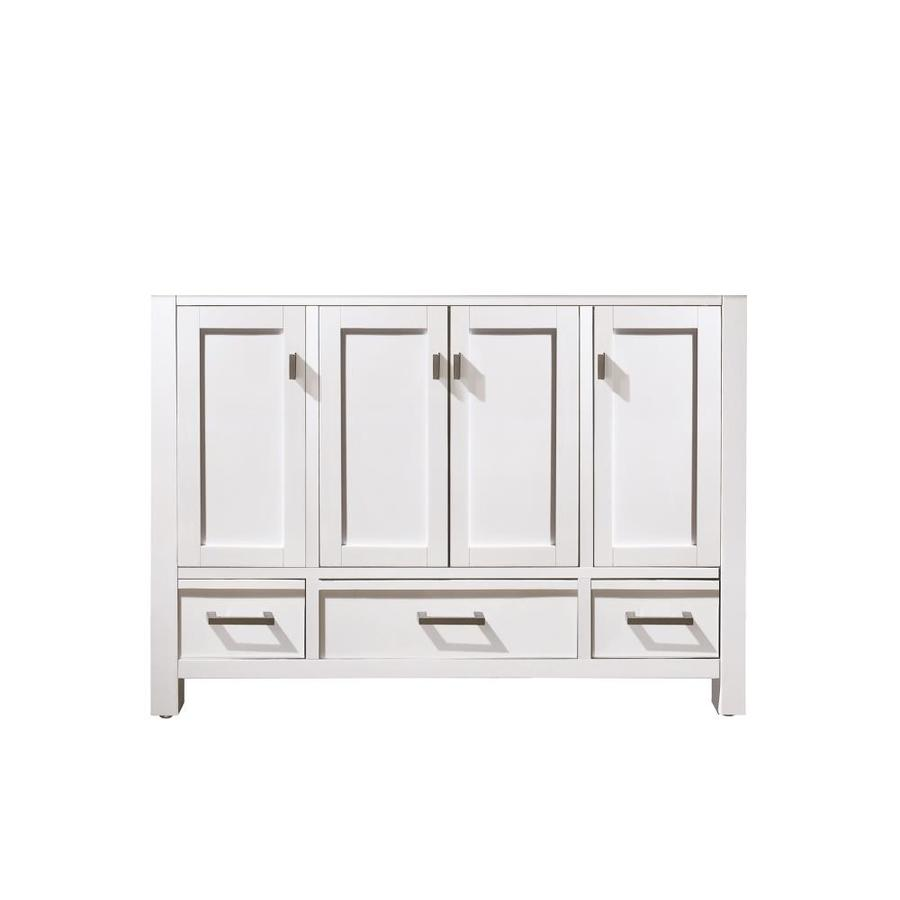 Shop avanity modero 48 in white bathroom vanity cabinet at - 48 inch white bathroom vanity with top ...
