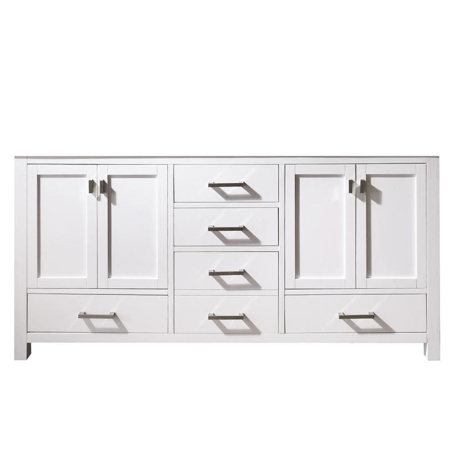 Shop avanity modero white transitional bathroom vanity for 72 bathroom vanity without top