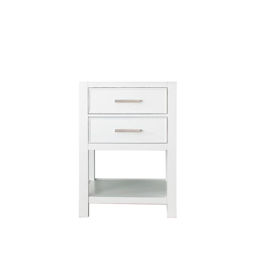 Avanity Brooks White Traditional Bathroom Vanity (Common: 24-in x 21-in; Actual: 24-in x 21.5-in)
