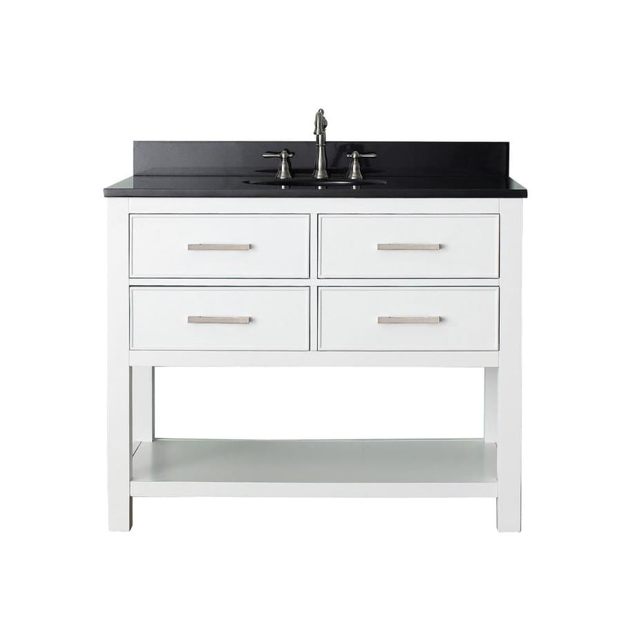 Shop Avanity Brooks White Undermount Single Sink Bathroom Vanity With Granite Top Common 43 In