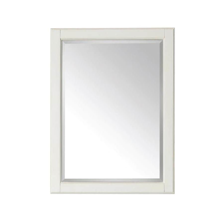 Shop avanity hamilton 24 in x 32 in french white for White framed mirror