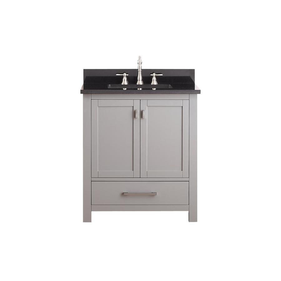 Avanity Modero Chilled Gray Undermount Single Sink Bathroom Vanity with Granite Top (Common: 31-in x 22-in; Actual: 31-in x 22-in)