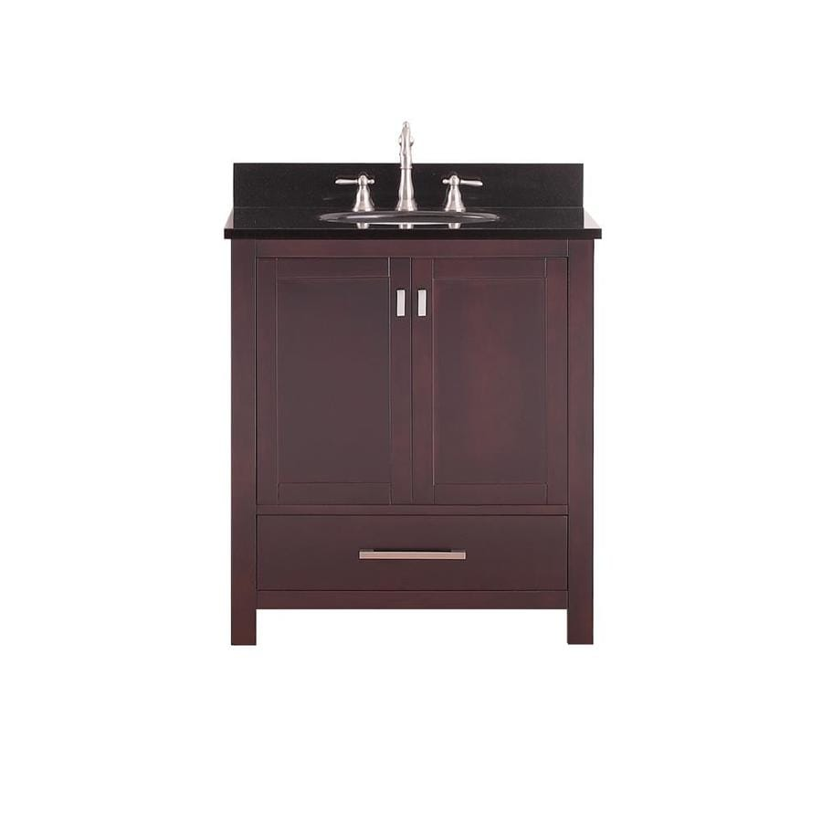 31 in undermount single sink poplar bathroom vanity with granite top