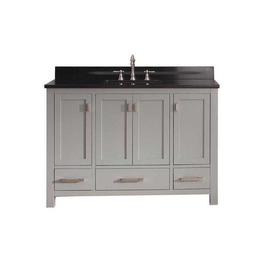 Avanity Modero Chilled Gray (Common: 49-in x 22-in) Undermount Single Sink Poplar Bathroom Vanity with Granite Top (Actual: 49-in x 22-in)
