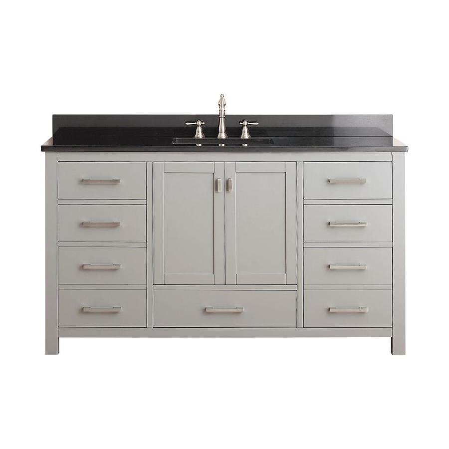 Avanity Modero Chilled Gray Undermount Single Sink Bathroom Vanity with Granite Top (Common: 61-in x 22-in; Actual: 61-in x 22-in)