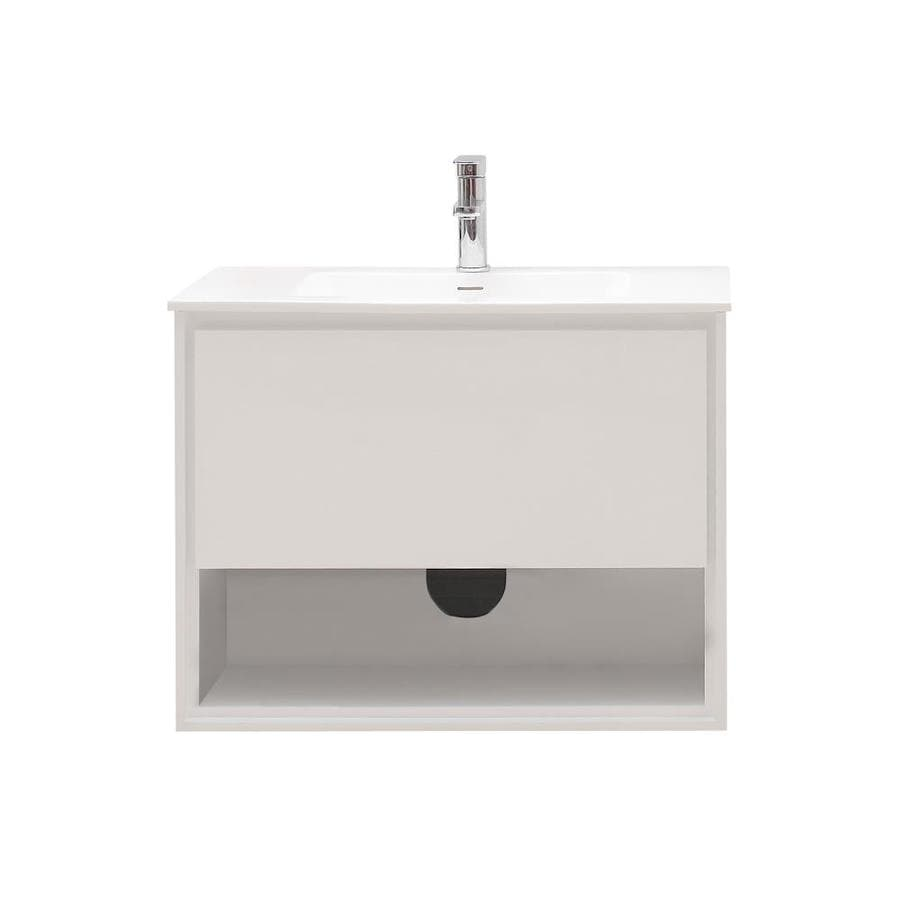 Avanity Sonoma White Integrated Single Sink Bathroom Vanity with Solid Surface Top (Common: 31.5-in x 20.5-in; Actual: 31.5-in x 20.5-in)