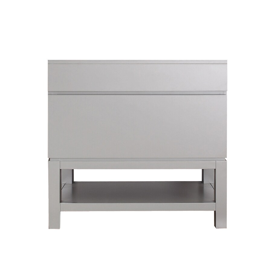 Avanity Tribeca Chilled Gray 36-in Contemporary Bathroom Vanity