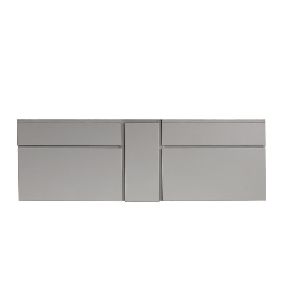 Avanity Tribeca Chilled Gray (Common: 60-in x 22-in) Contemporary Bathroom Vanity (Actual: 60-in x 21.5-in)