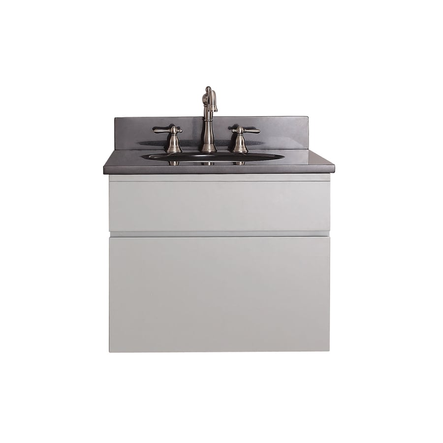 Avanity Tribeca Chilled Gray 25-in Undermount Single Sink Poplar Bathroom Vanity with Granite Top