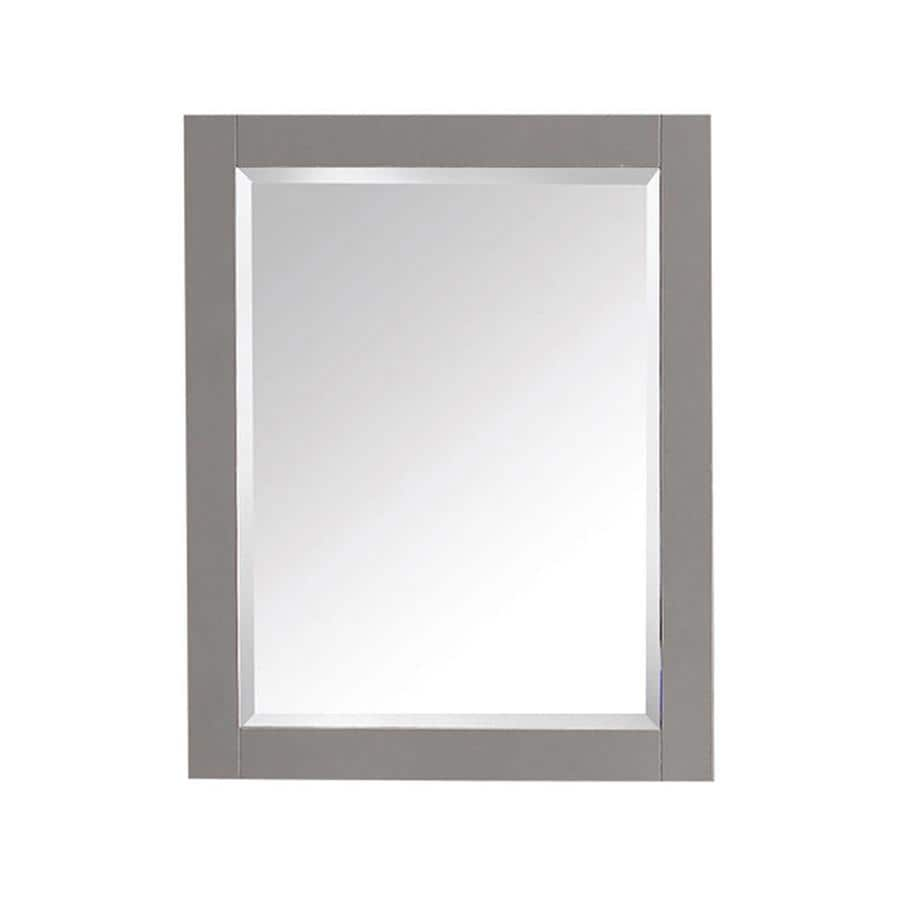 Avanity Brooks/Modero/Tribeca 24-in x 30-in Chilled Gray Rectangular Framed Bathroom Mirror
