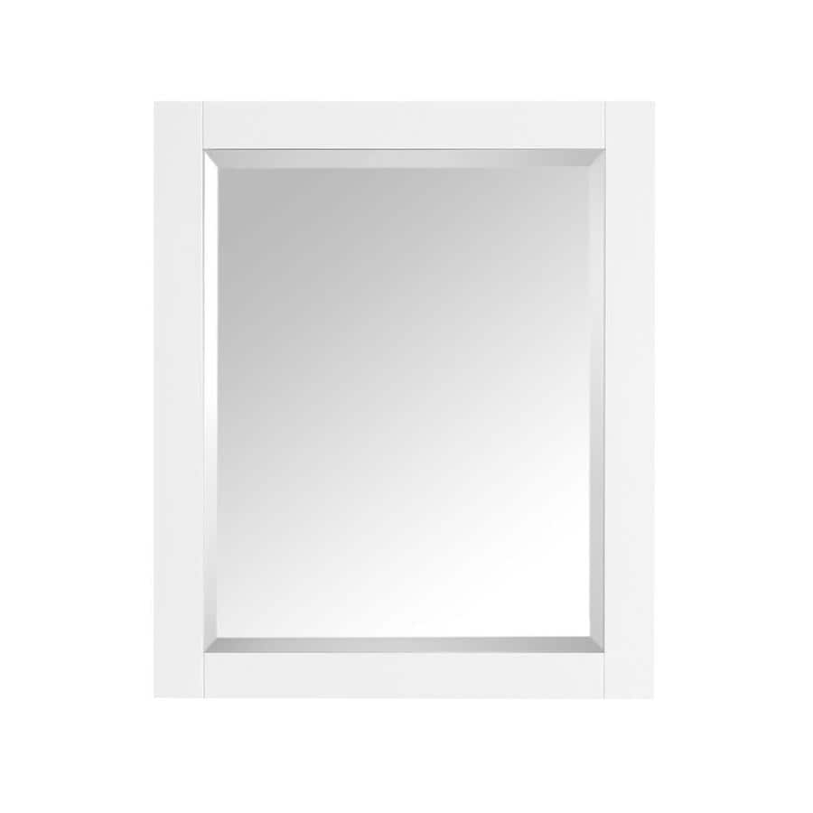 Avanity Brooks/Modero/Tribeca 24-in W x 30-in H White Rectangular Bathroom Mirror