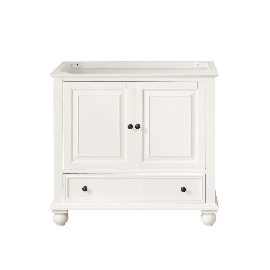 Avanity Thompson French White (Common: 36-in x 21-in) Traditional Bathroom Vanity (Actual: 36-in x 21-in)
