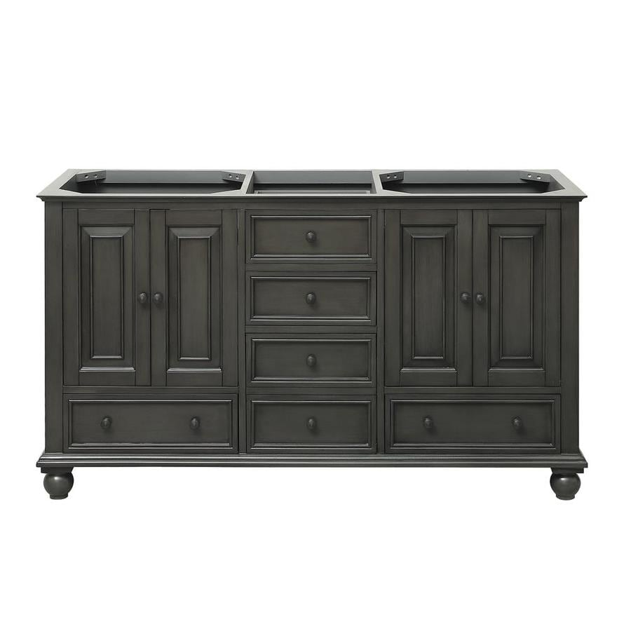Avanity Thompson Charcoal Glaze (Common: 60-in x 21-in) Traditional Bathroom Vanity (Actual: 60-in x 21-in)