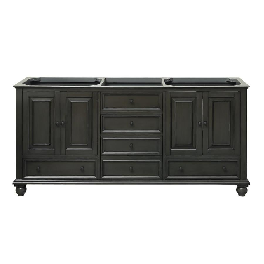 Avanity Thompson Charcoal Glaze Bathroom Vanity (Common: 72-in x 21-in; Actual: 72-in x 21-in)