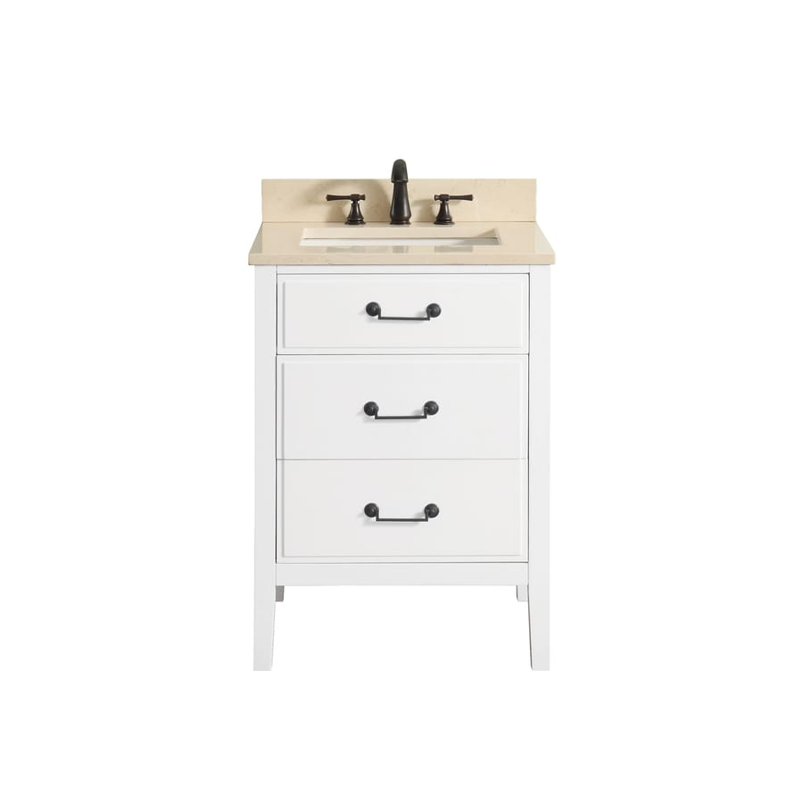 Shop avanity delano white undermount single sink bathroom vanity with natural marble top common 22 inch wide bathroom vanity with sink