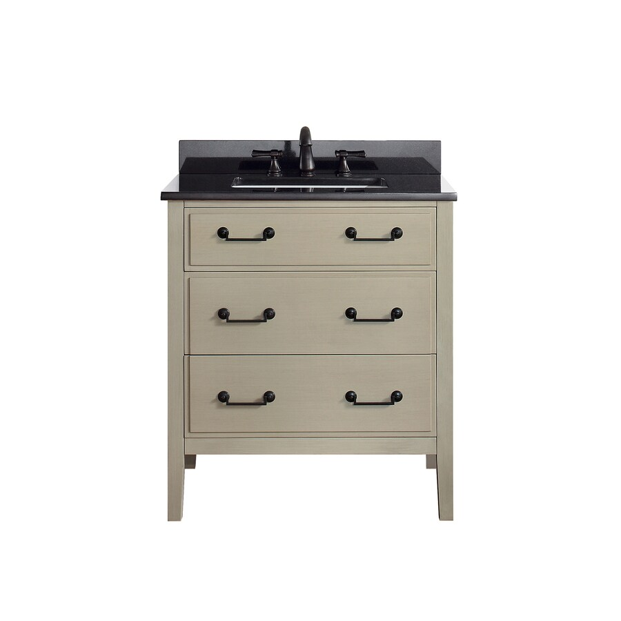 Avanity Taupe Glaze 31-in Undermount Single Sink Poplar Bathroom Vanity with Granite Top
