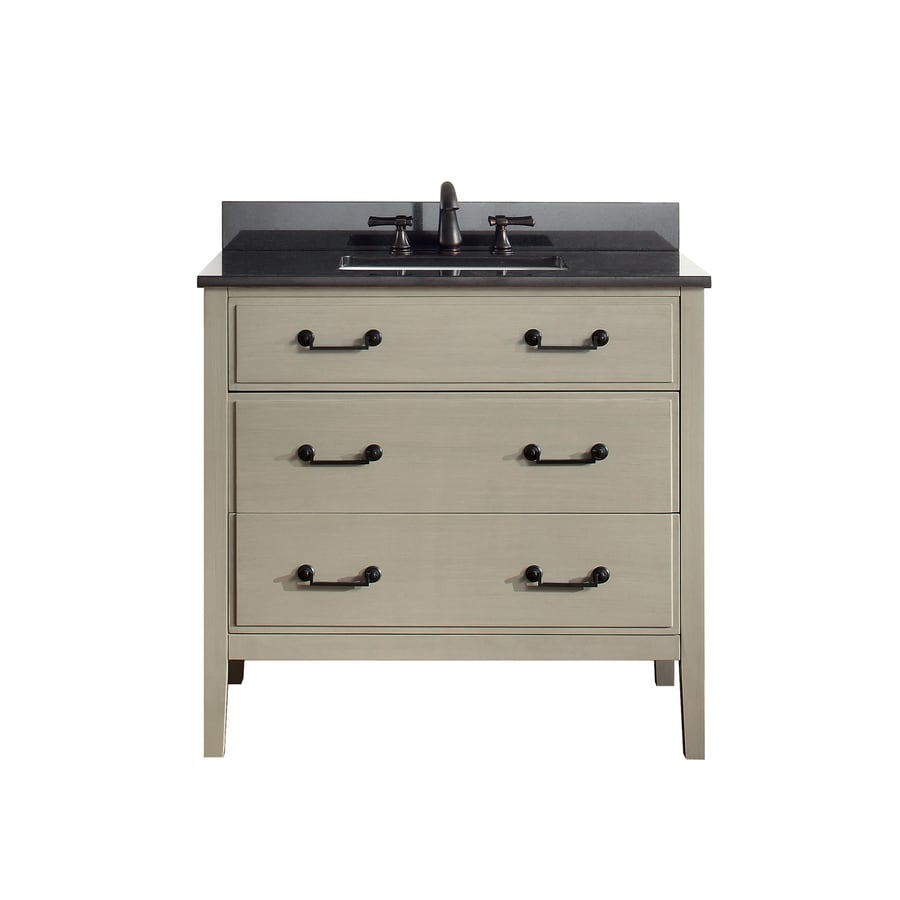 Avanity Delano Taupe Glaze Undermount Single Sink Bathroom Vanity with Granite Top (Common: 37-in x 22-in; Actual: 37-in x 22-in)