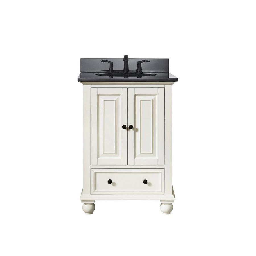 Avanity French White Undermount Single Sink Bathroom Vanity with Granite Top (Common: 25-in x 22-in; Actual: 25-in x 22-in)