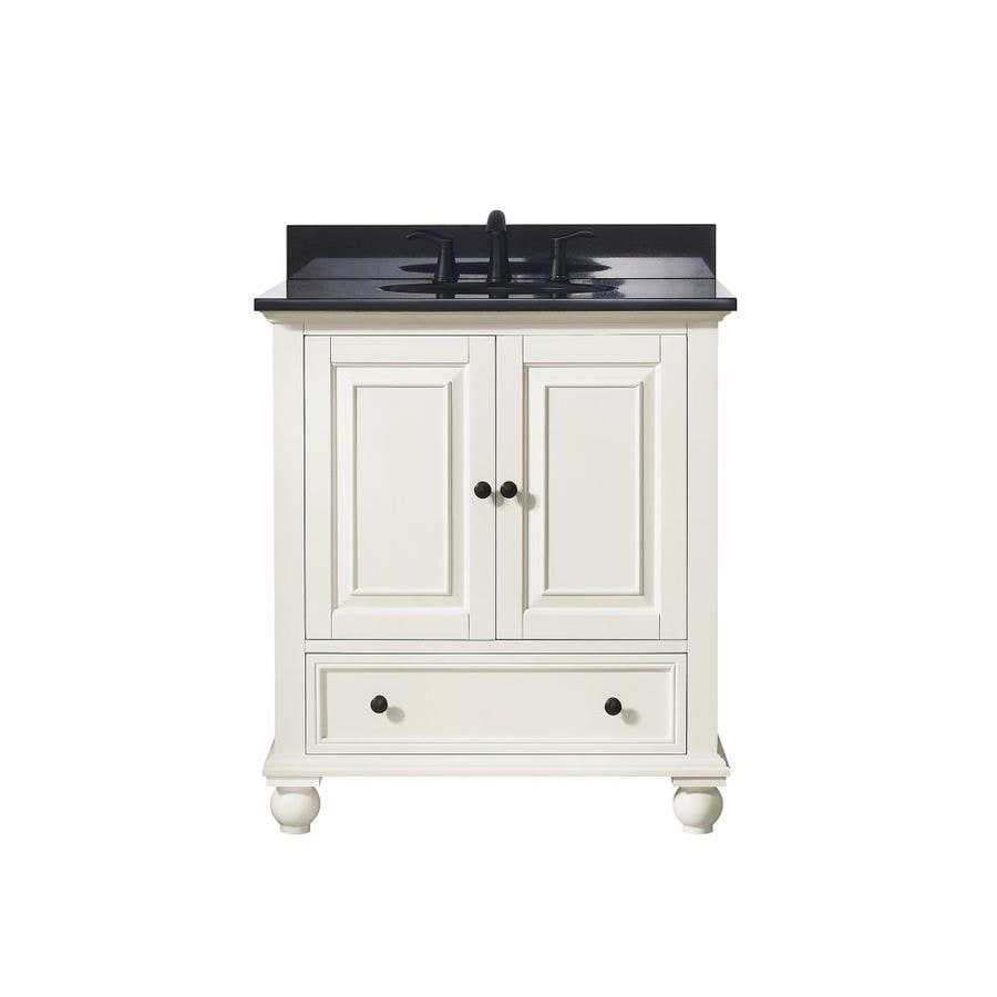 Avanity French White Undermount Single Sink Bathroom Vanity with Granite Top (Common: 31-in x 22-in; Actual: 31-in x 22-in)