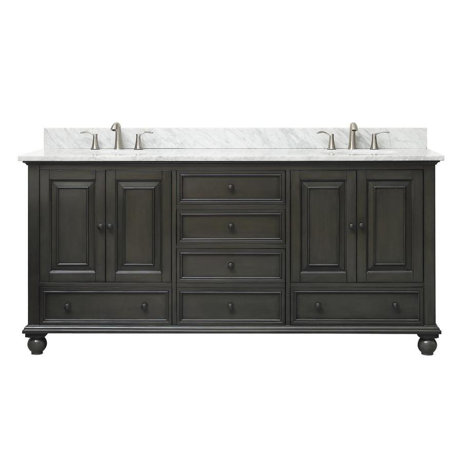 Avanity Thompson 73-in Charcoal Glaze Double Sink Bathroom ...