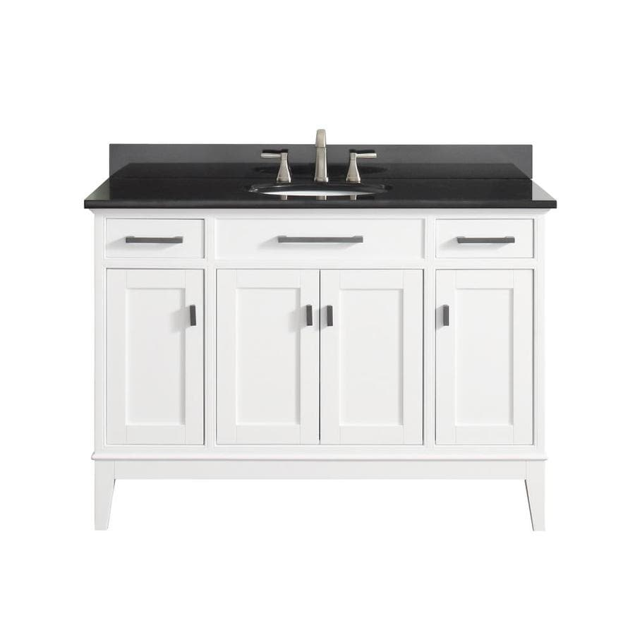 Avanity Madison White Undermount Single Sink Bathroom Vanity with Granite Top (Common: 49-in x 22-in; Actual: 49-in x 22-in)