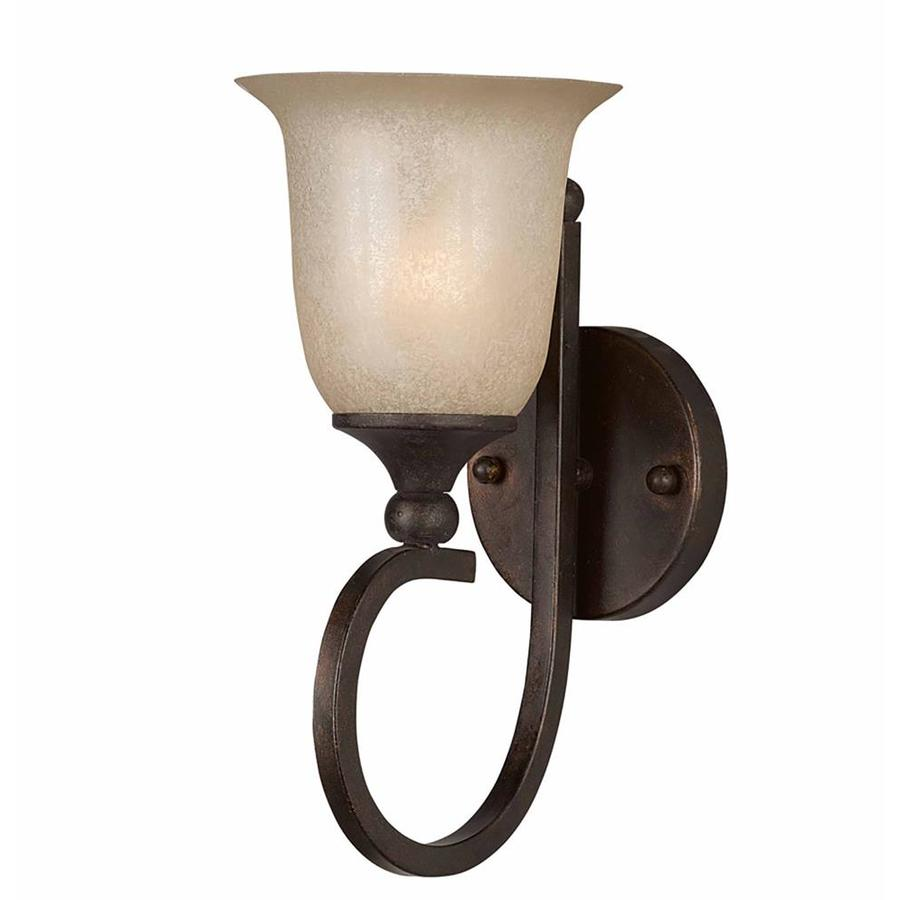 Raissa 6.5-in W 1-Light Bronze Arm Wall Sconce