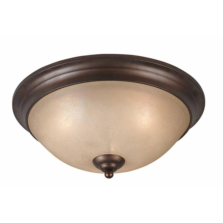 Stepanov 17-in W Bronze Standard Flush Mount Light