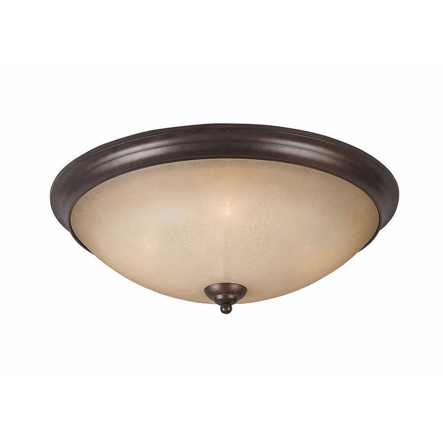 Stepanov 23-in W Bronze Flush Mount Light