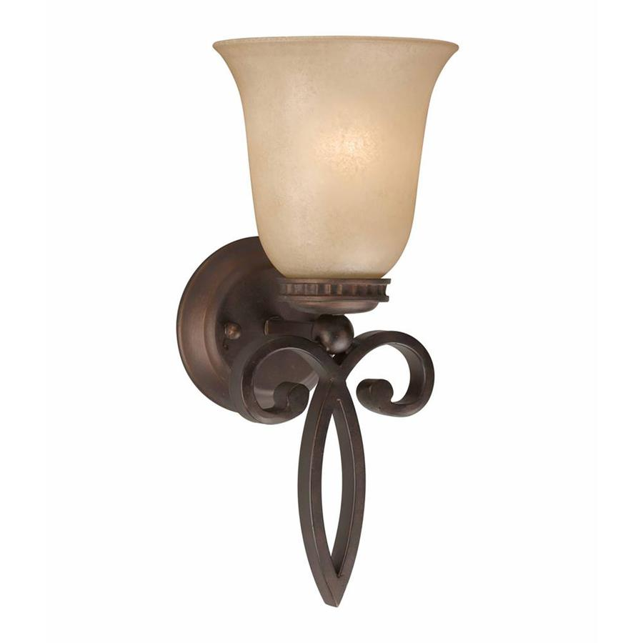 Stepanov 6.5-in W 1-Light Bronze Arm Hardwired Wall Sconce