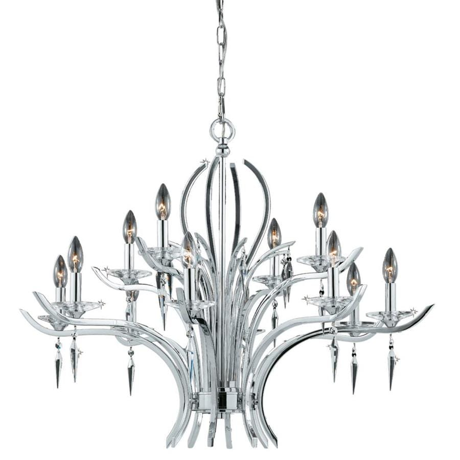 Vieira 35-in 12-Light Chrome plated Candle Chandelier