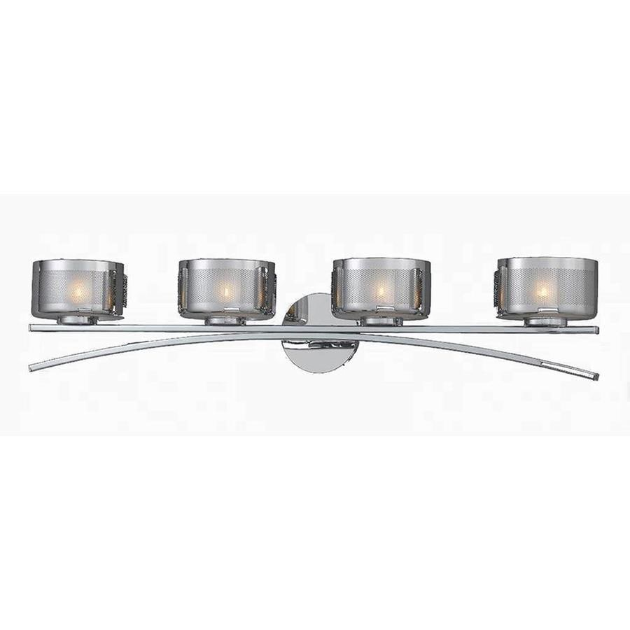 Pandora 4-Light 6.5-in Chrome Vanity Light