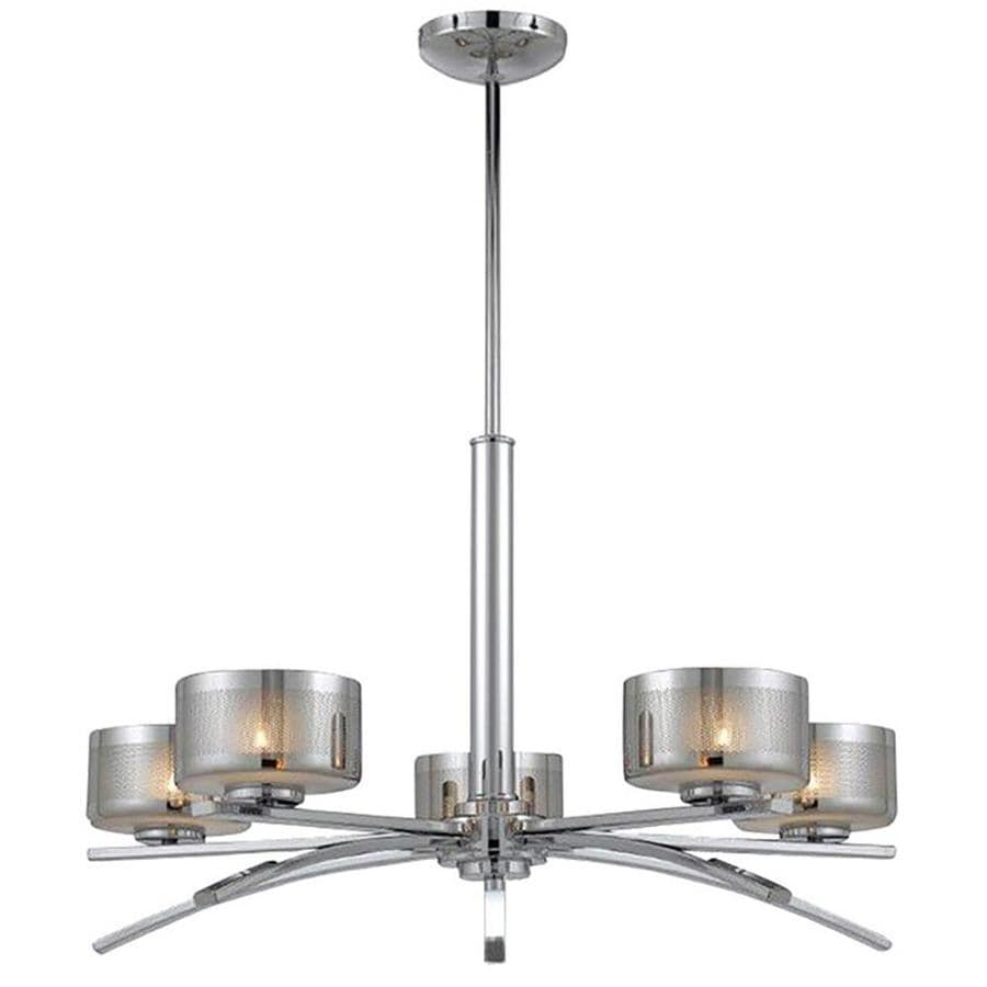 Pandora 28-in 5-Light Chrome Candle Chandelier
