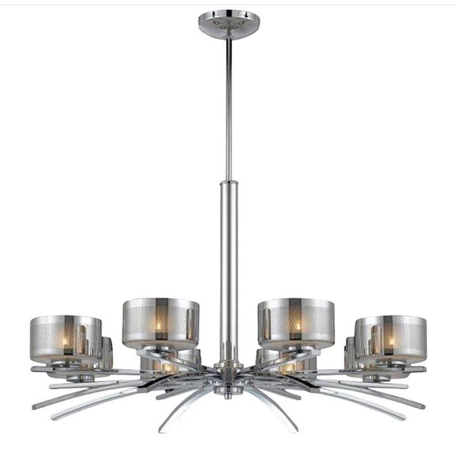 Pandora 32-in 8-Light Chrome Candle Chandelier
