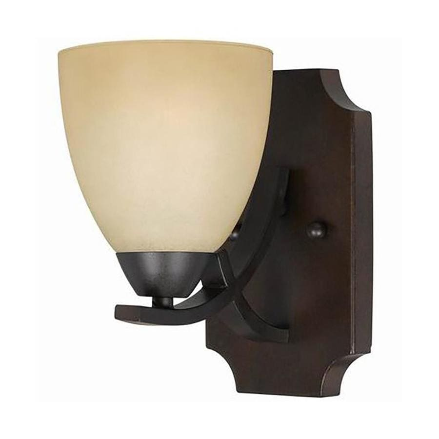 Wall Sconces Location : Shop Anitra 5-in W 1-Light Bronze Arm Wall Sconce at Lowes.com