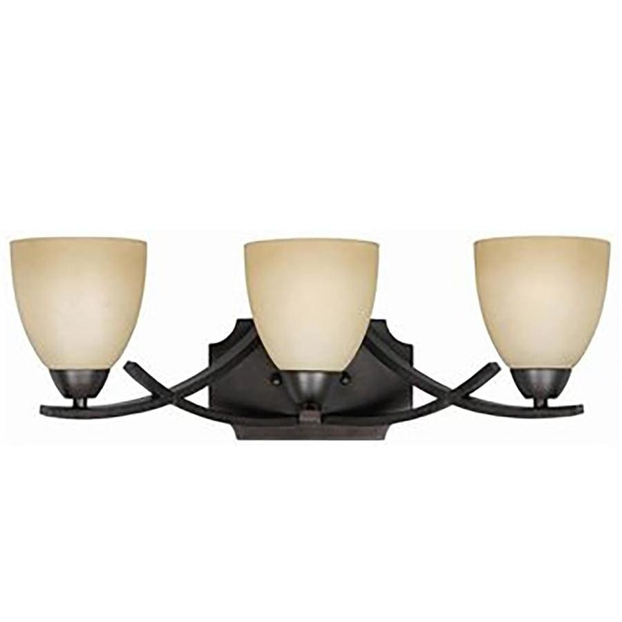 Huth 3-Light 8-in Bronze Vanity Light