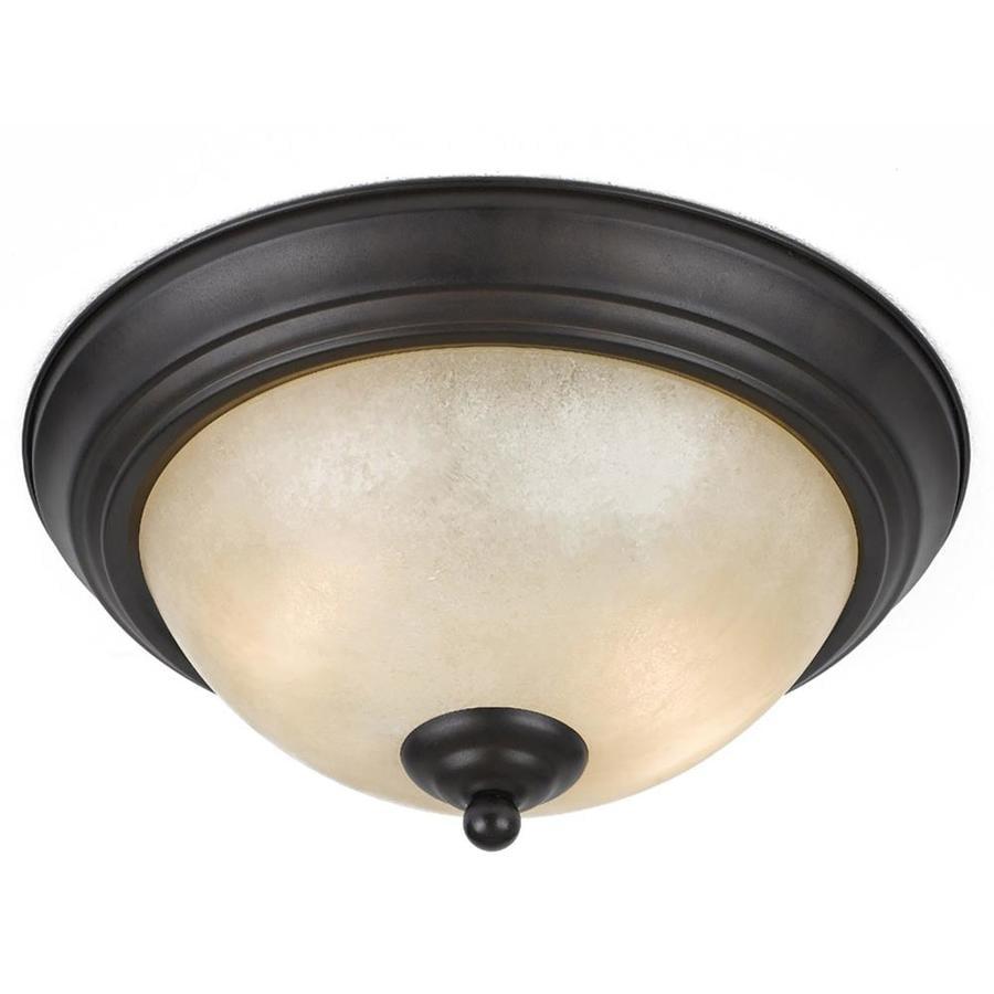 Anitra 13.5-in W Bronze Ceiling Flush Mount Light