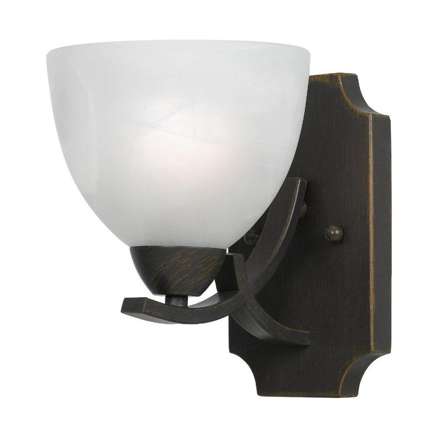 Candace 5-in W 1-Light Bronze Arm Wall Sconce