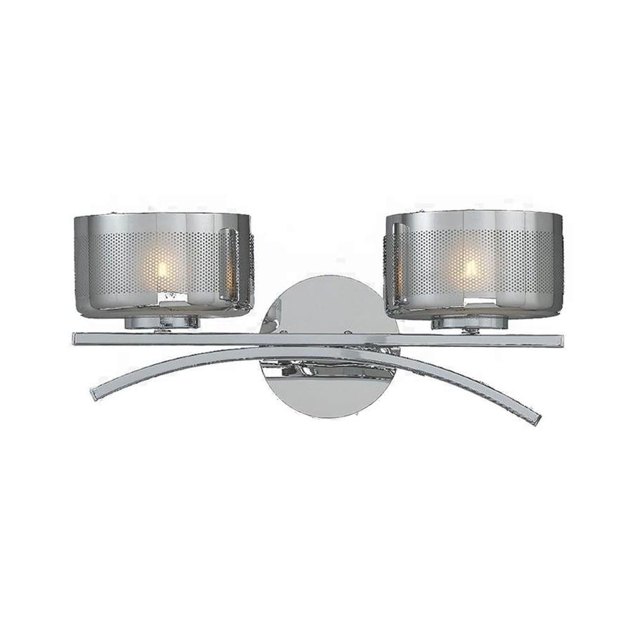 Pandora 2-Light 6.5-in Chrome Vanity Light