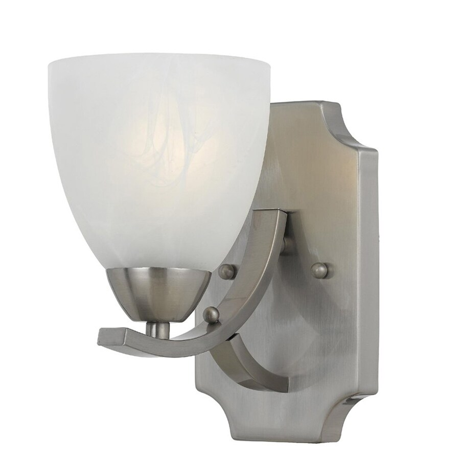 Adjustable Wall Sconce Lowe S : Shop Werra 5-in W 1-Light Satin Nickel Arm Wall Sconce at Lowes.com