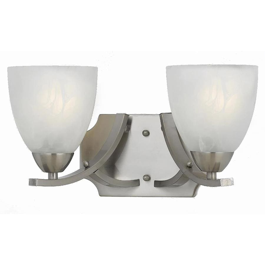 Werra 2-Light 8-in Satin Nickel Vanity Light