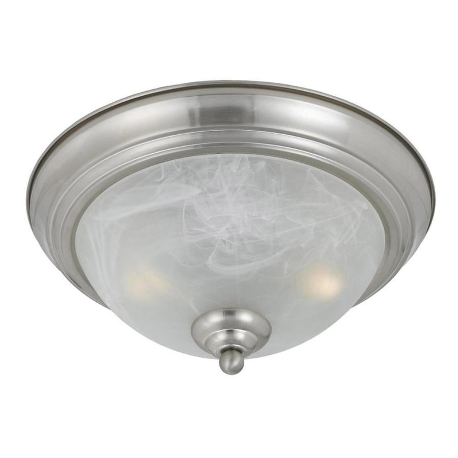 Werra 13.5-in W Satin Nickel Standard Flush Mount Light