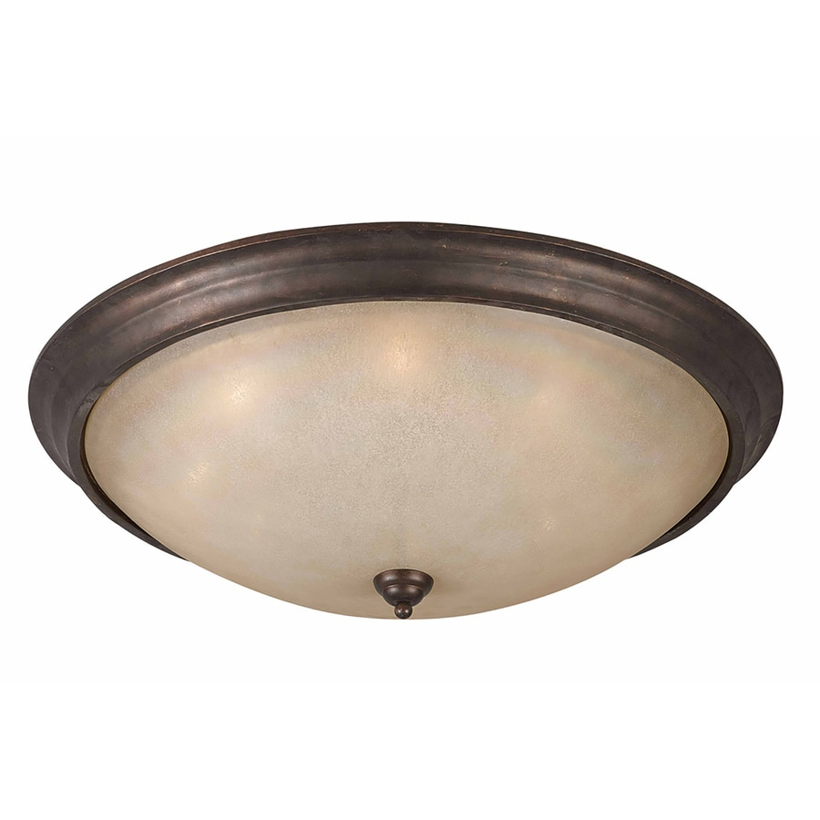 Stepanov 32-in W Bronze Ceiling Flush Mount Light