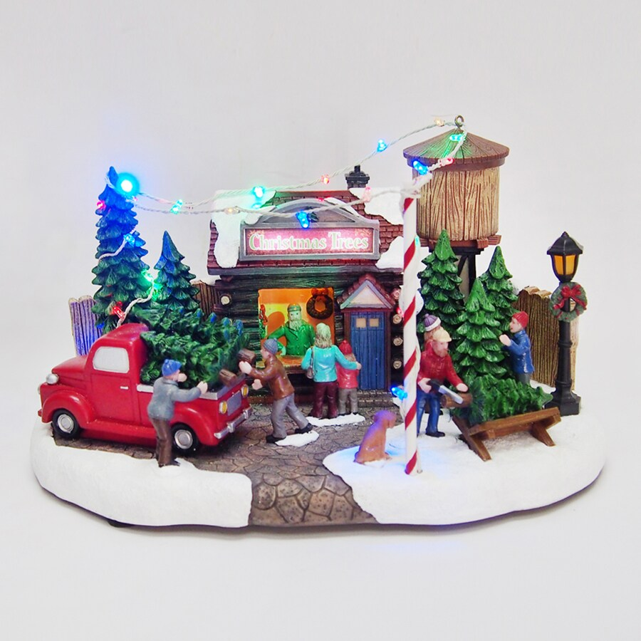 Shop Carole Towne Resin Lighted Musical Cassie 39 S Tree Lot Christmas Collectible At